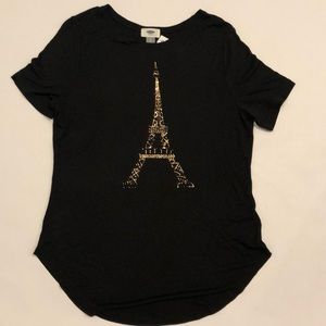 NEW W/ TAGS - Old Navy black tee with Eiffel Tower